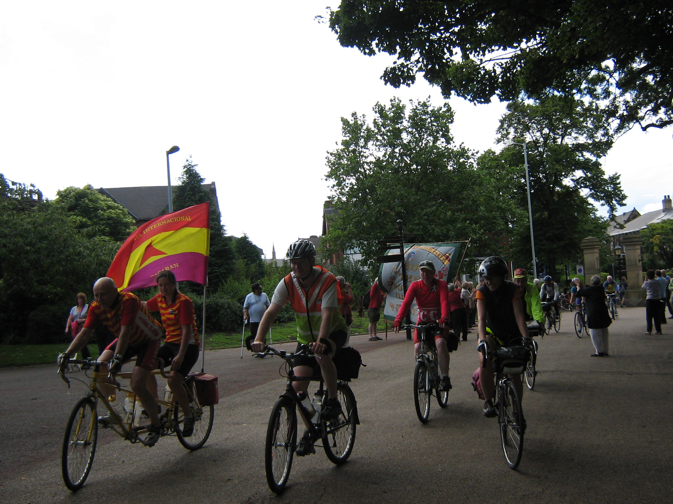 Cyclists entering Clifton Park