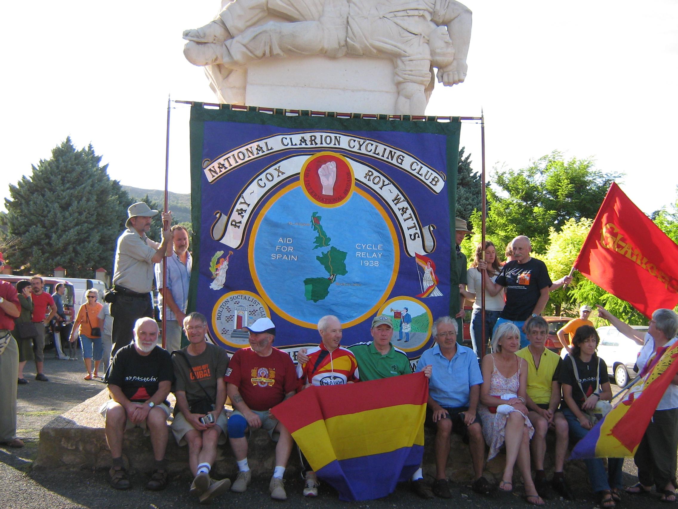 The Clarion banner at La Barranca