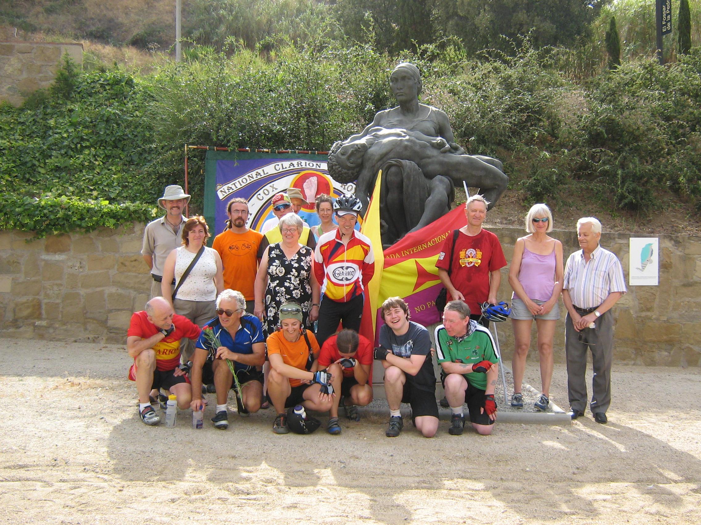 The cyclists at La Fosse de Pedrera, Montjuic