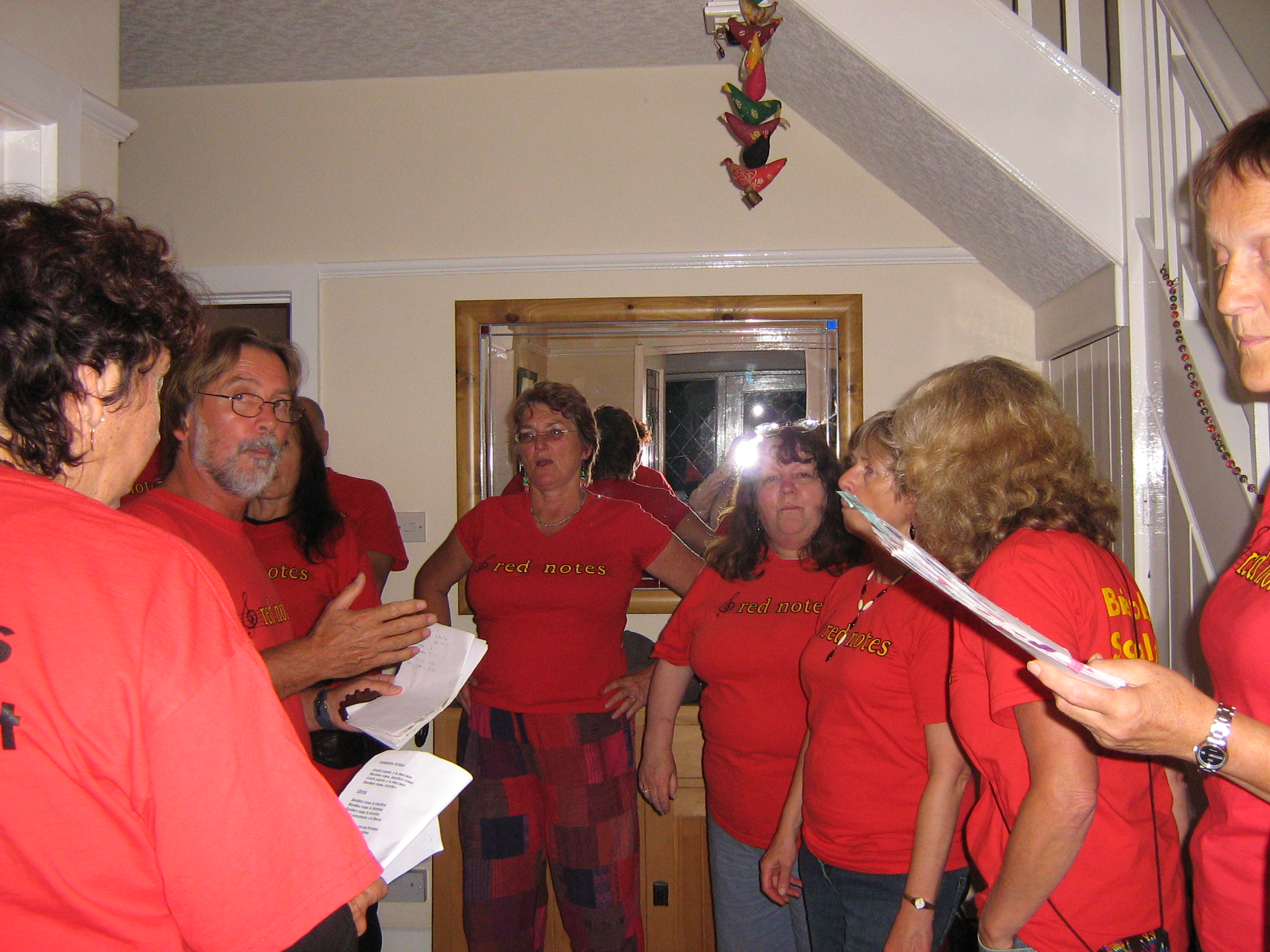 The Red Notes Choir from Bristol singing for us