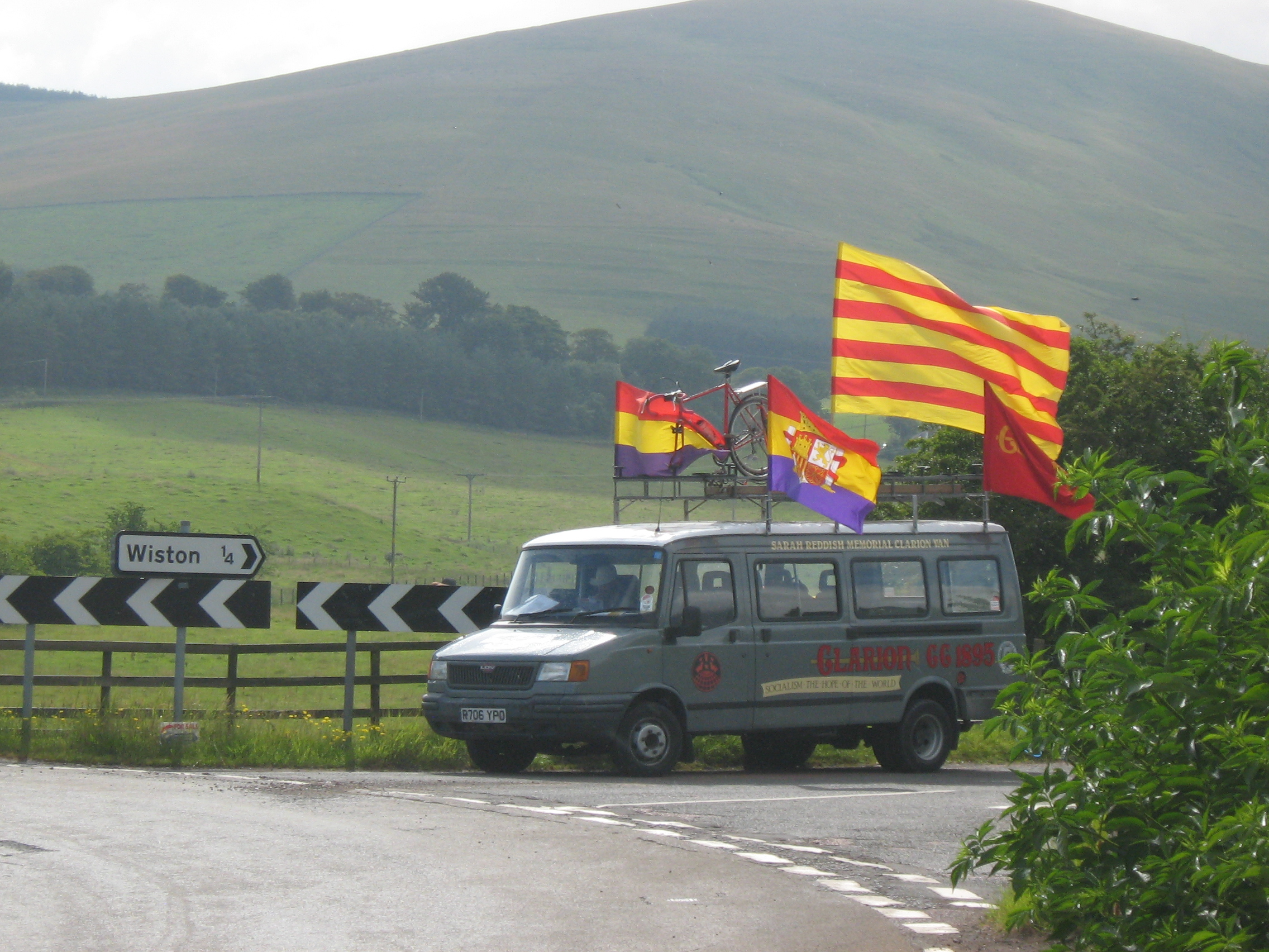 The support bus outside Wiston