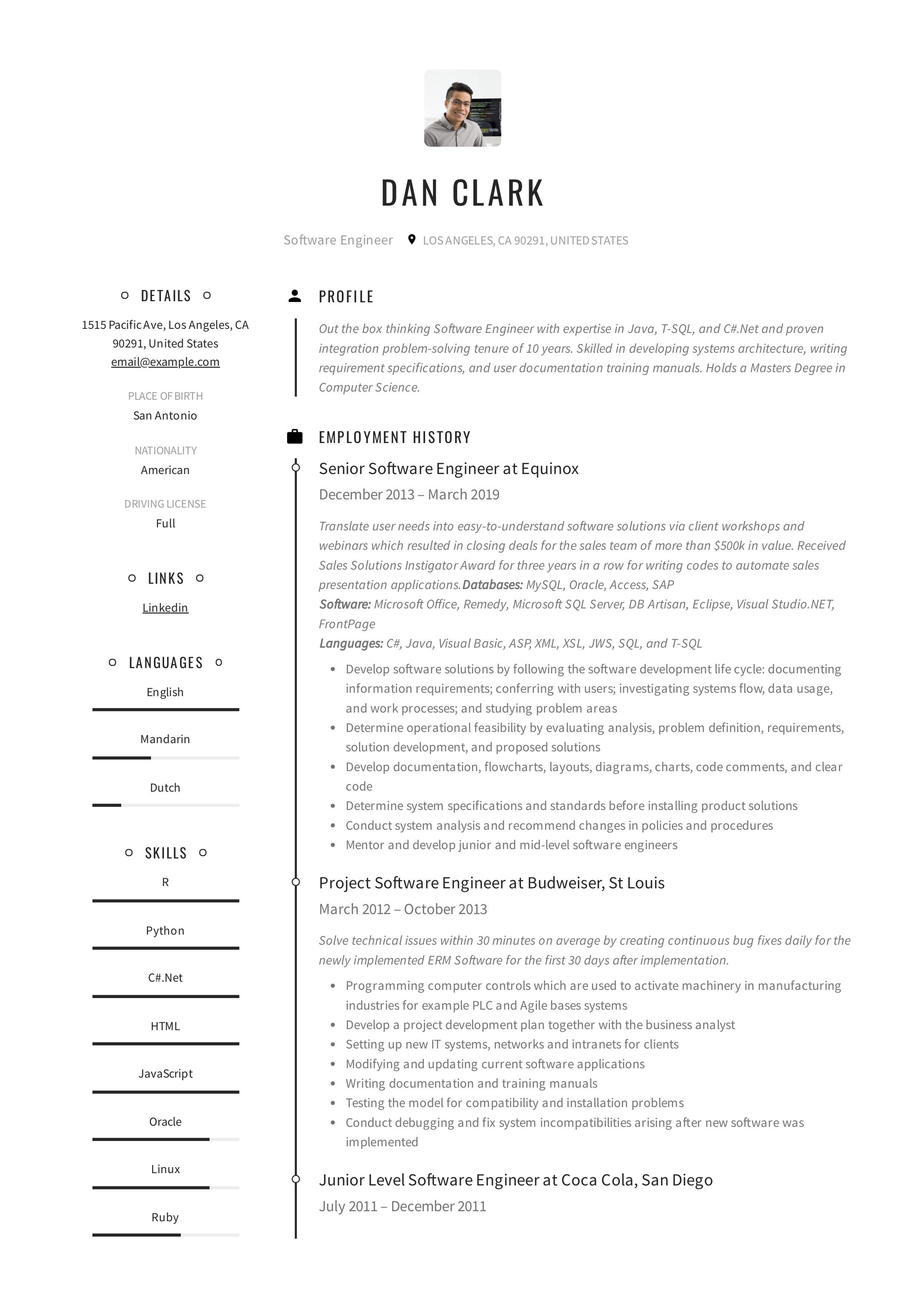 Resume Templates 2020 Pdf And Word Free Downloads