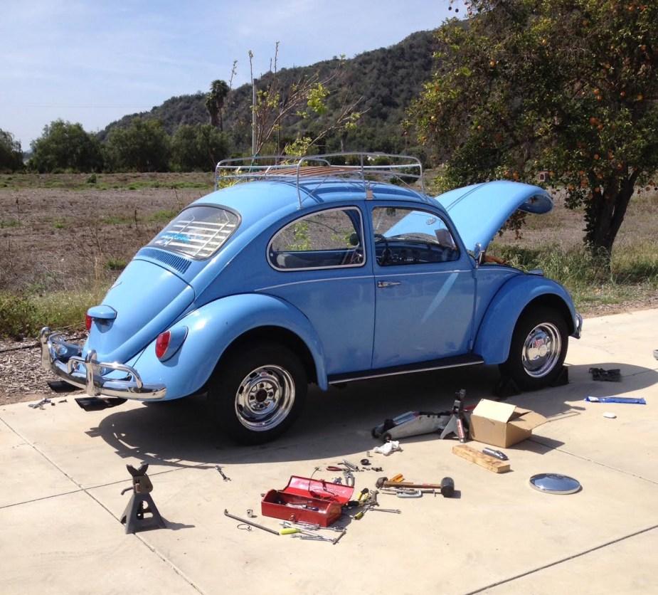 '67 Volkswagen Beetle — Equalizer Spring Installation