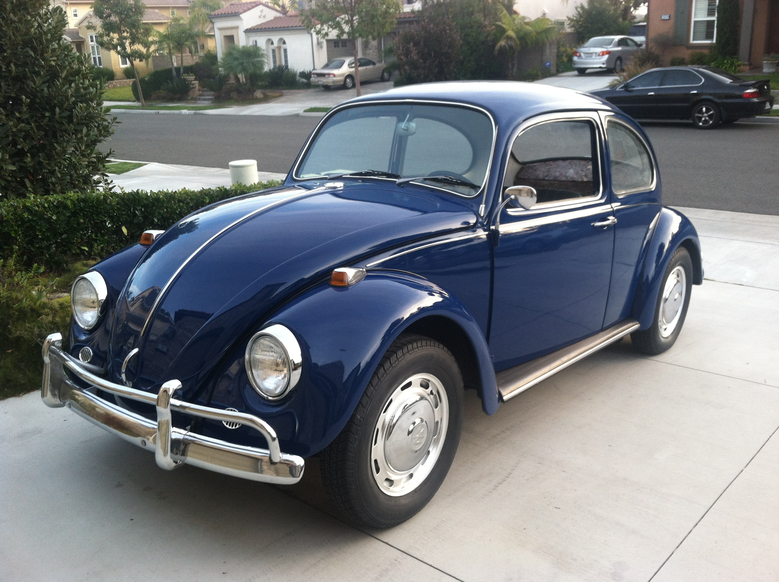 SOLD: L633 VW Blue '67 Beetle - 1967 VW Beetle