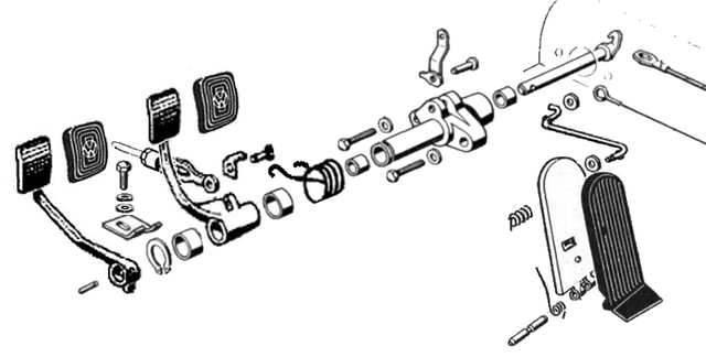 Vw Beetle Pedal Assembly Diagram