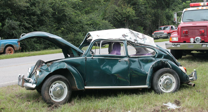 Image result for wrecked vw bugs pictures