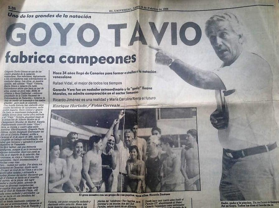 Goyo Tavio Natacion