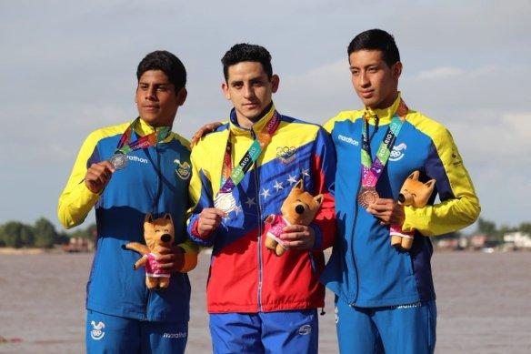 Diego Vera medalla de oro Aguas Abiertas Rosario 2019