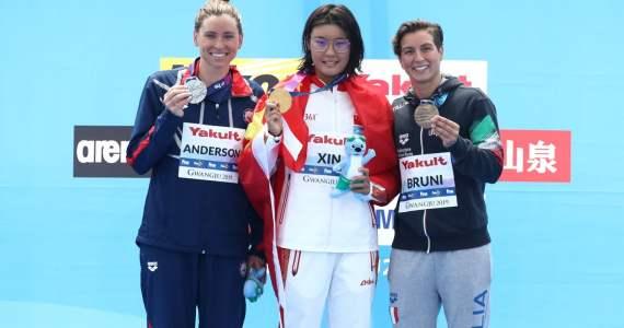 Podio 10Km femenino Mundial FINA Aguas Abiertas Gwangju 2019