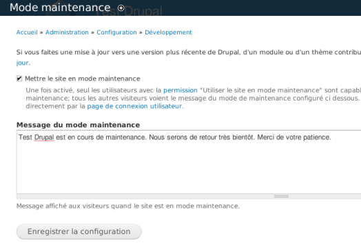 Drupal Param Mode Maintenance