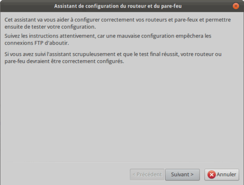 FileZilla Accueil Assistant