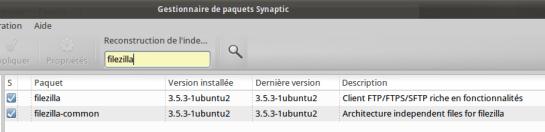 Synaptic FileZilla