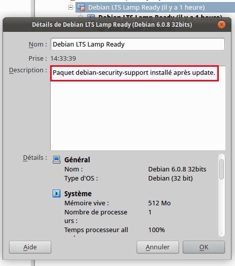 VirtualBox - Debian 6 - debian-security-support
