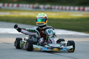 Anthony Gangi Jr. celebrates his victory at the Palm Beach International Raceway during the opening weekend of the Florida Winter Tour Formula Kart weekend(Photo: GangiJr.com)