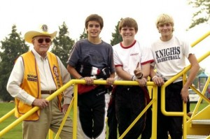 2005 Mooresville, Indiana Grand Prix ( r to l ) Art Raney, Elliott Bachelart, Conor Daly, Josef Newgarden (Photo: davidleephoto.com)