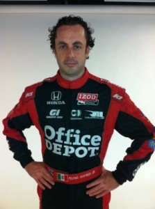 Michel Jourdain Jr. sporting the K1 RaceGear for the 2013 Indy 500