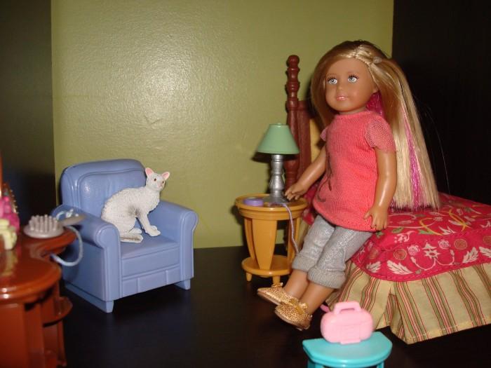 Me in my bedroom with mini Tutu.