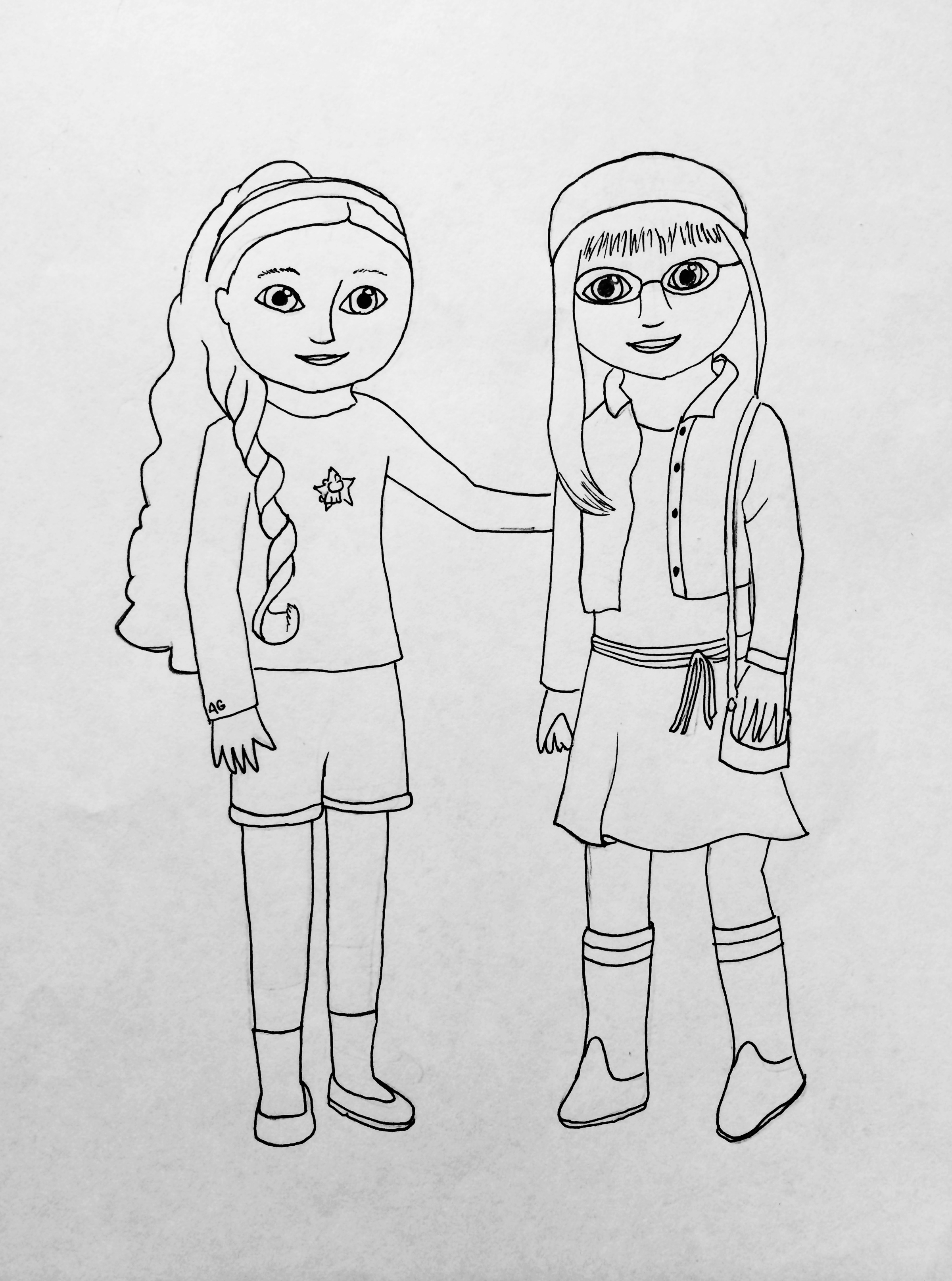 My American Girl Coloring Pages  Small Dolls In A Big World