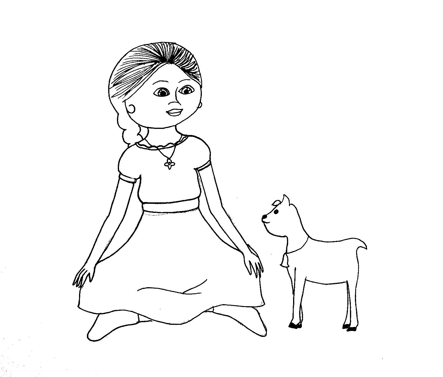 american girl coloring pages beforever