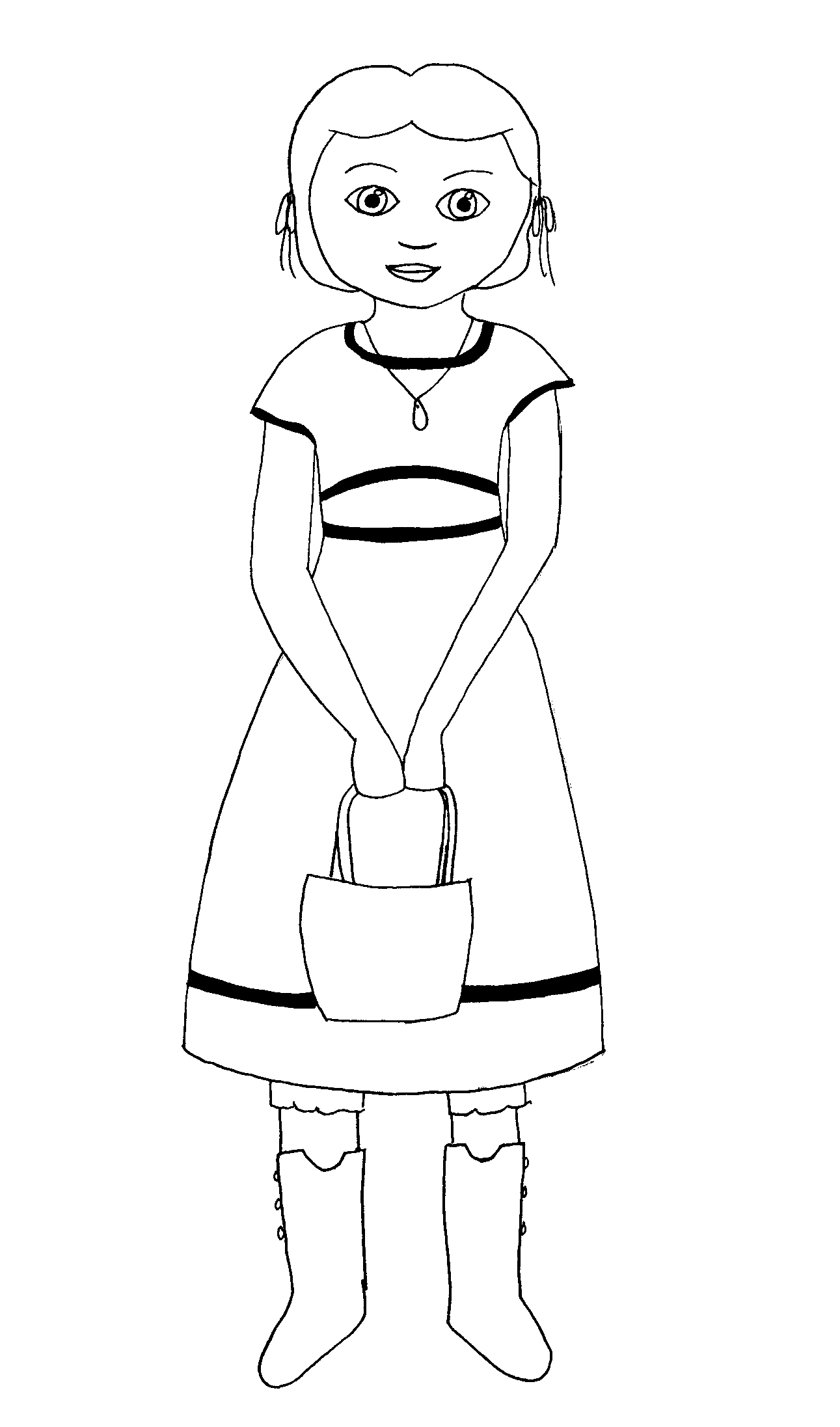 American girl pages to color - American Girl Coloring Pages Beforever