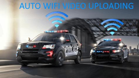 police in-car camera system wireless video uploading