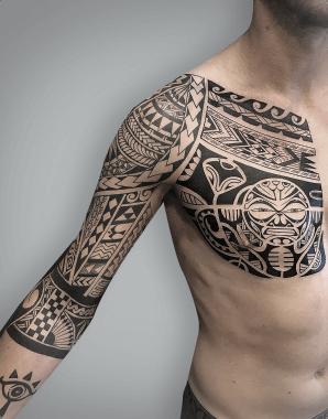 maori tattoo arm 2 chest