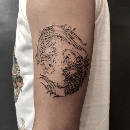 The True Meaning Of Koi Fish And Lotus Flower Tattoo 1984 Studio