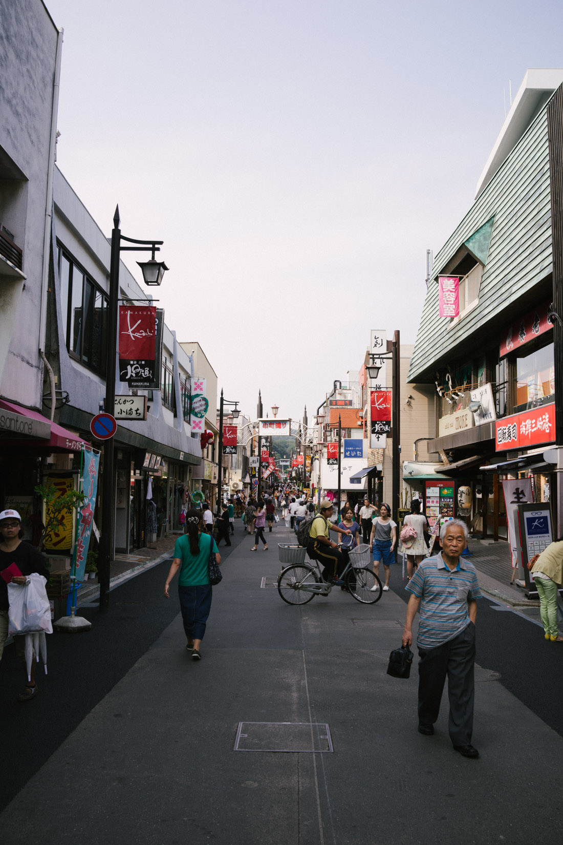 Shopping street in Kamakura, fantastic vibe!