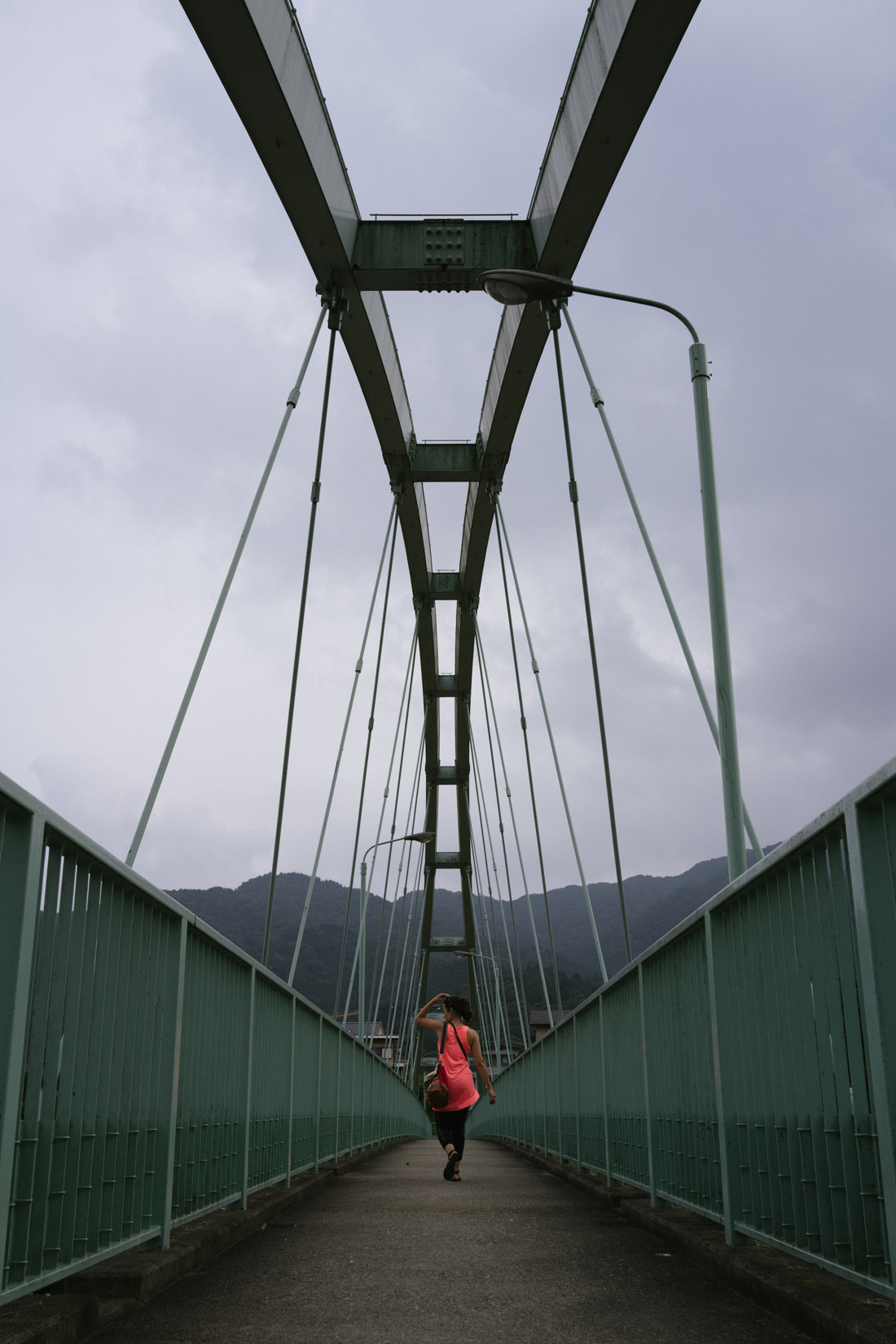Crossing the bridge to the right side of town.