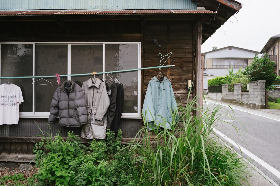 Drying coats outside?