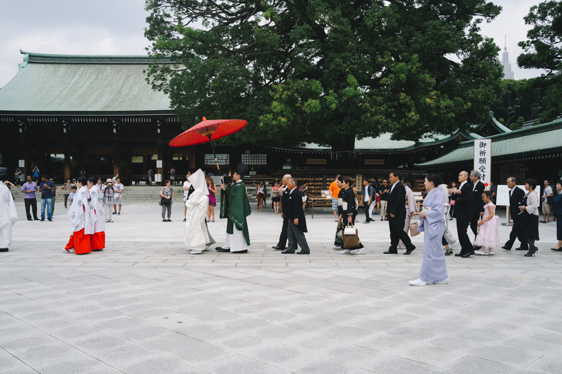 ...a wedding ceremony was taking place right when we stepped into Meiji grounds.