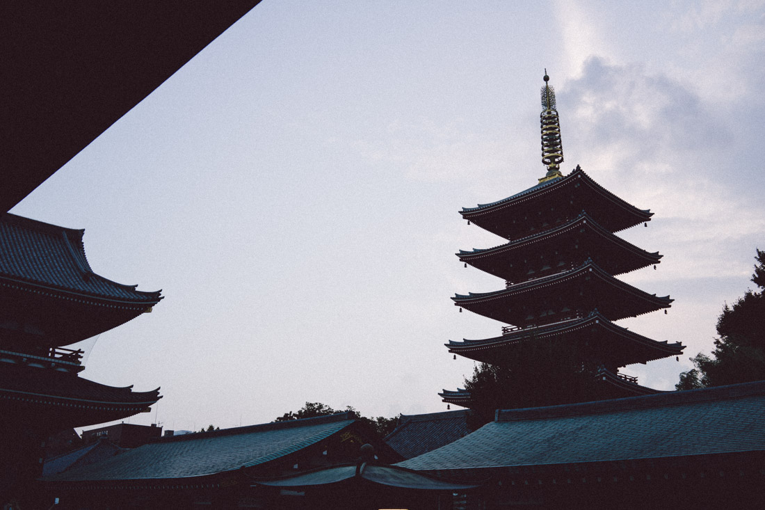 Five-story pagoda near Senso-ji temple.