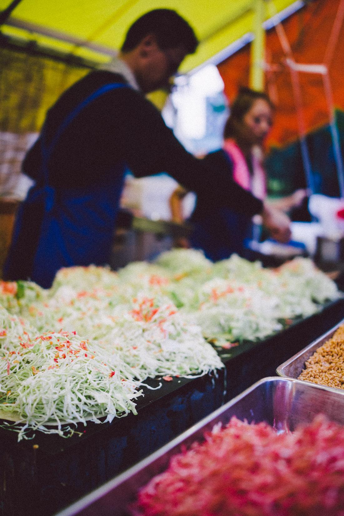Getting some okonomiyaki done.