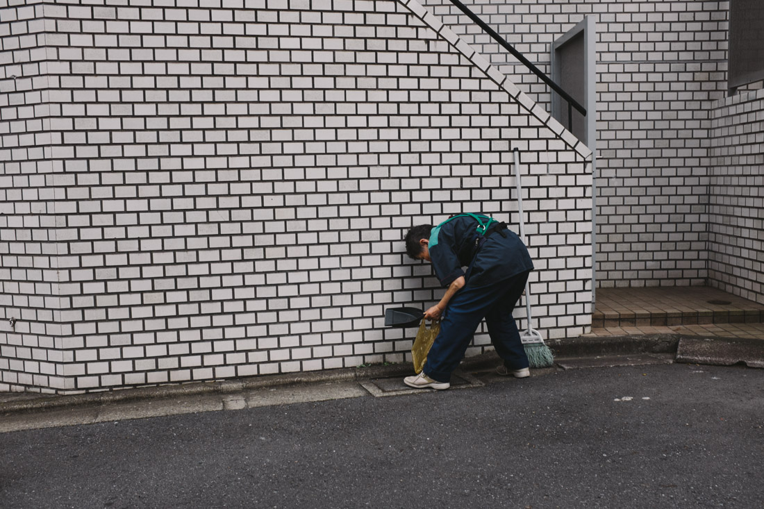 Tokyo is an amazingly clean city even though there are million of people, mainly because everyone does their part