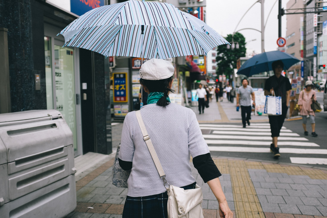 White skin is cherished in Japan, so umbrellas are a must.