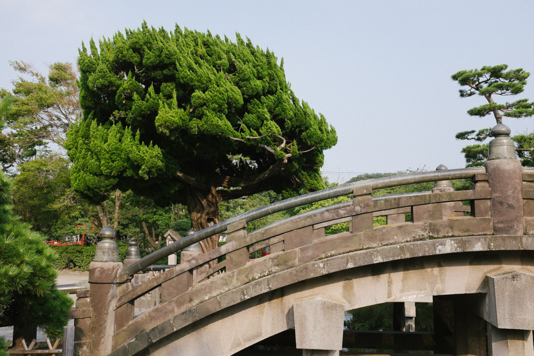 Entrance bridge to Tsurugaoka Hachimangu.