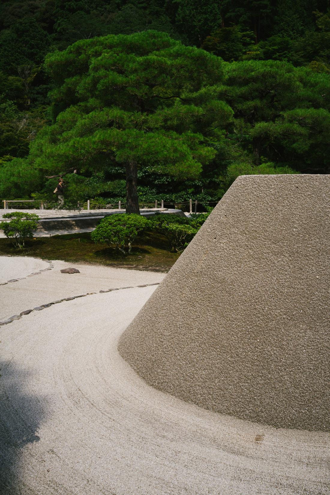 Stone garden inside Ginkaku-ji.