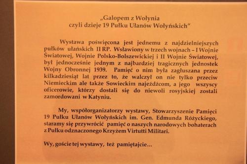 11.03.2014 r. Otwarcie wystawy Ułani z Wołynia 137
