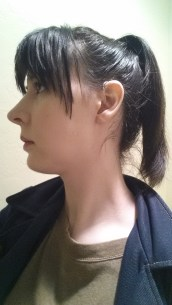 Tried a high ponytail; ended up looking 14 years old.