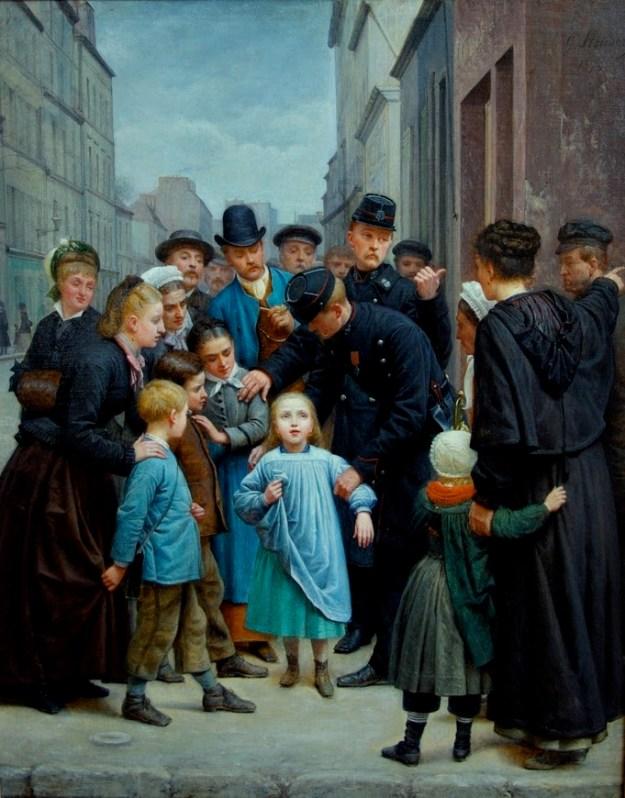 Charles-Gustave_Housez_La_petite_fille_perdue_dans_Paris_1877