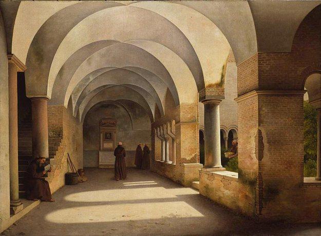 Christoffer_Wilhelm_Eckersberg_-_The_Cloisters,_San_Lorenzo_fuori_le_mura