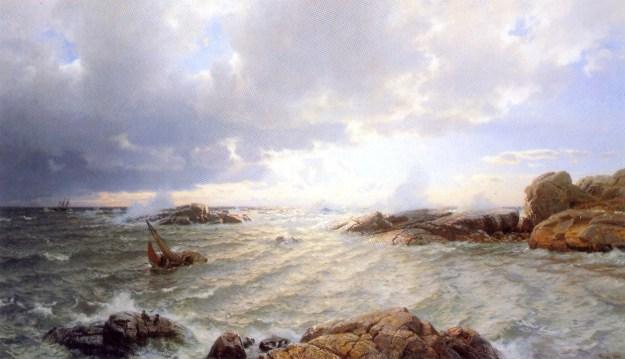 Hans_Gude--Brenning_Ved_Hanko--1890