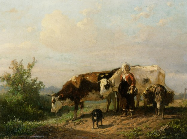 Mauve_Anton_The_Cowherdess_Oil_on_Panel