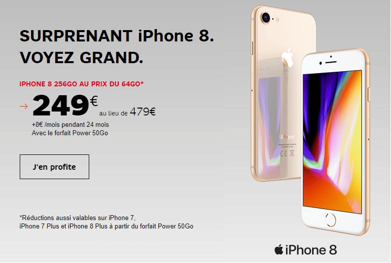 iphone 8 avec forfait sfr