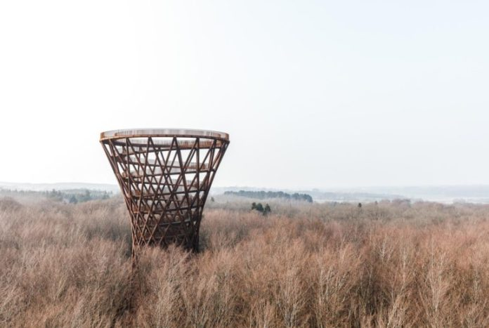 900m treetop observation tower in Denmark