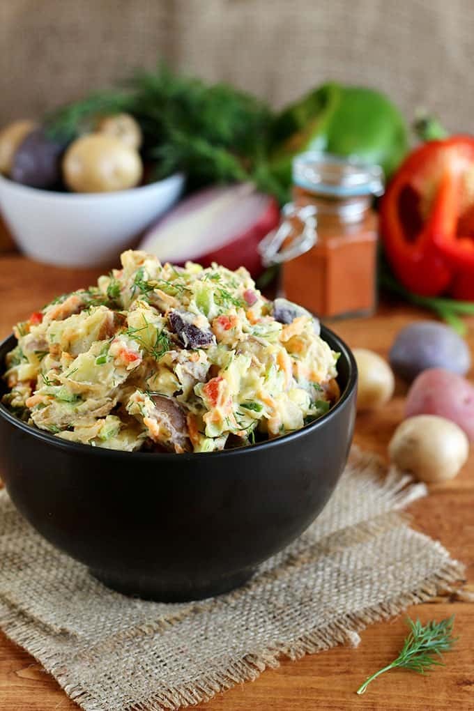 Vegan Potato Salad Recipes... Rainbow Potato Salad