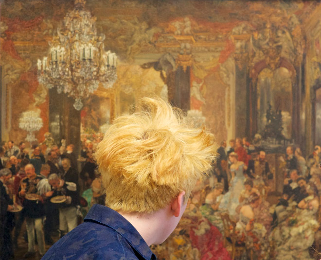 Haircut perfectly matching a painting.