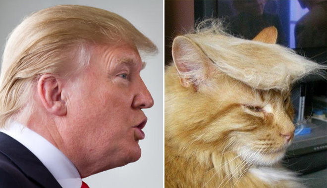Trump and his double.