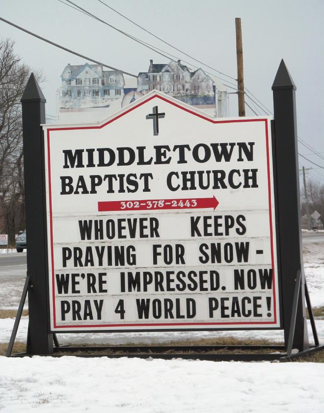 Stop praying for snow. Start praying for world peace!
