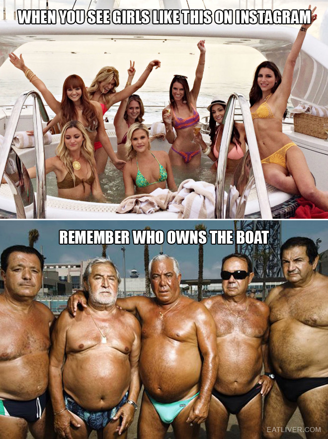 Just remember who owns the boat.